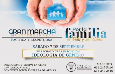 Marcha por la familia la vida y los valores mañana 7 de septiembre
