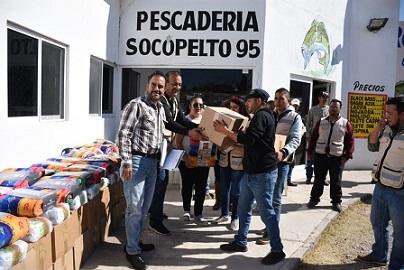 Reciben pescadores de La Boquilla apoyo del gobierno federal