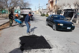 Supera Municipio los 11 mil 300 metros cuadrados de baches reparados -2 mil 850 hoyancos han sido atendidos