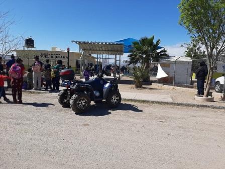 Reforzó la vigilancia en los planteles educativos el municipio de Aquiles Serdán