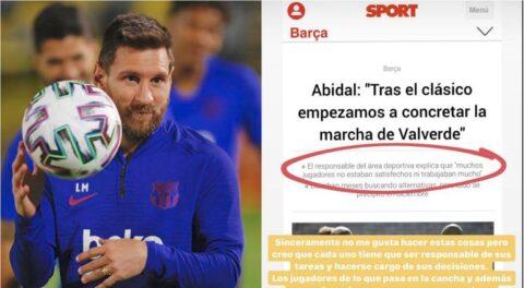 Que digan nombres: Messi responde a Abidal, directivo del Barça