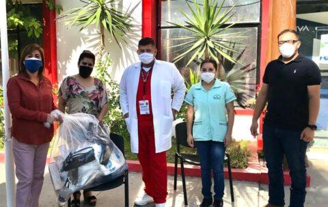 Distribuye la alcaldesa Laura Mara Silva Fernández material de salud