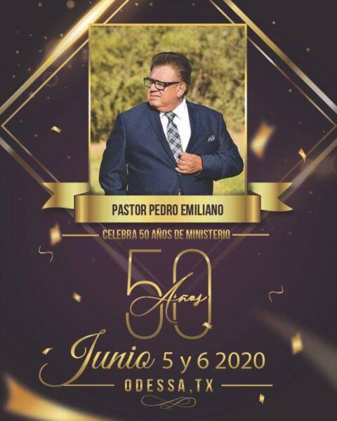 Proyectan festejarle 50 años de ministerio al Pastor y Evangelista Pedro Emiliano