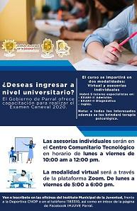 Ofrece Municipio cursos gratuitos de preparación para el examen Ceneval