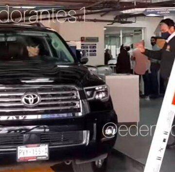 Maribel Guardia choca su camioneta en Televisa