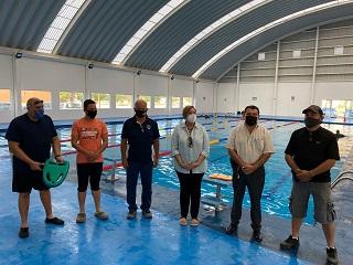Exhorta la alcaldesa Luisa Alejandra Santos Cadena a participar en los cursos de natación