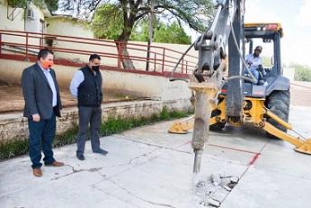 Arrancan Alcalde Lozoya y Diputado Parga paquete de obras en la ciudad