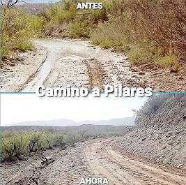 Mejoran caminos rurales en la región de Pilares