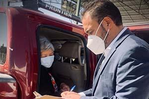 Pone en marcha Juan Carlos Loera servicio a bordo de vehículos para entrega de tarjetas a beneficiarios de programas del bienestar