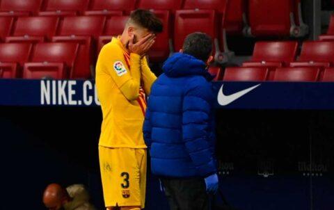 Barcelona pierde varios meses a Piqué por lesión