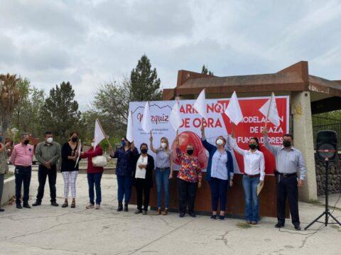 Inician trabajos para la rehabilitación de la placita Fundadores en Múzquiz